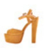 0nlymaker Women's Glitter Platform Heels Block Chunky High Heel 16cm San... - $268.84