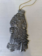 Father Christmas Saint Nicholas 1993 Holiday Pewter Ornament Vintage By Avon - $7.13