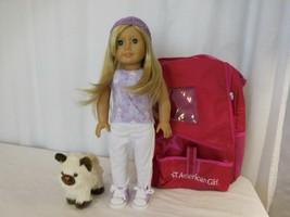 American Girl Doll 2008 Truly Me Blonde Hair Blue Eyes + AG  Carrier + AG Cat + - $108.92