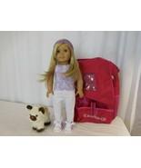 American Girl Doll 2008 Truly Me Blonde Hair Blue Eyes + AG  Carrier + A... - $108.92