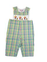 Dana Kids Little Boys Halloween Gingham Scarerows Smocked Longall 12M-4T - $25.00