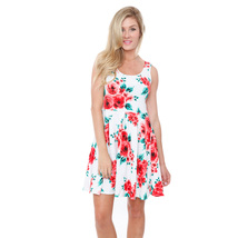 White Mark's Crystal Dress - Red Flowers - $24.99