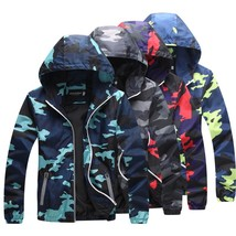 2018 New Fashion Couples Reflective Camouflage Jacket Men and Women Outd... - $39.78