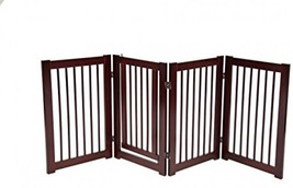 Pet Gate Dog Gates Pen Puppy Folding Adjustable Freestanding with Door I... - $124.86
