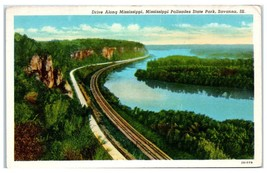 Mid-1900s Drive Along Mississippi Palisades State Park, Savanna, IL Post... - $5.48