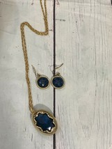 Crystal Blue Persuasion Vogue Signed Necklace And Matching Earrings - $54.45