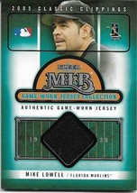 2005 FLEER CLASSIC CLIPPINGS #32 MIKE LOWELL JERSEY MARLINS FREE SHIPPING  - $2.99