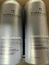 Pureology Strength Cure Blonde Purple Shampoo & Conditioner 33.8oz Liter Duo - $89.99