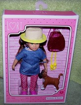 """Lori by Our Generation Nadene 6"""" Green Eyes Doll & Nash her Puppy  New - $20.50"""