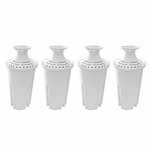 Fette Filter – 4 Pack of Water Replacement Filter Compatible with Brita Standard