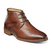 Florsheim Men's Boots Blaze Medallion Toe Chukka Cognac Leather 14202-221 - €116,20 EUR