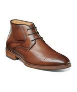 Florsheim Men's Boots Blaze Medallion Toe Chukka Cognac Leather 14202-221 - $128.79