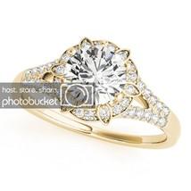 2.17 Carat Round Cut D/VVS1 Sim Diamond 10k Yellow Gold 925 Engagement Ring - $1.038,27 MXN