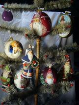 Vaillancourt Jingle Balls Santa with Bear Glass Christmas Ornament Or16502 image 3