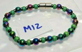 Bracelet Magnetic Hematite Clasp Single Strand 7 inch - Single Strand  (MAG-012) image 3