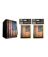USA Design Deck Box + 100 Double Matte Sleeves (fits MTG, Pokemon, Force... - $12.99