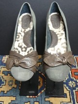 Women's Born Plaid Brown Leather Bow-Tie Flats Sz 40.5/9 MINT! - $29.32