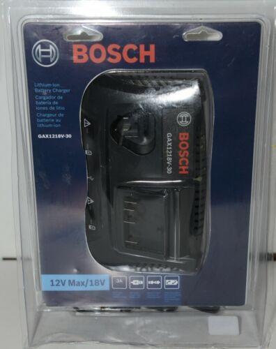 BOSCH GAX1218V 30 Lithium Ion Battery Charger 12V Max 18V No Battery