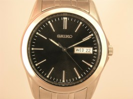Seiko men watch 7N42 casual stainless steel SGG691 - $84.22