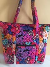 NWT Vera Bradley Villager Tote Bag Shoulder in Floral Fiesta Handbag - ₹4,273.19 INR