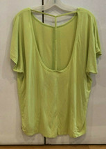 Hard Tail Forever Neon Yellow Top w/ Low Back Sz M EUC - $19.79