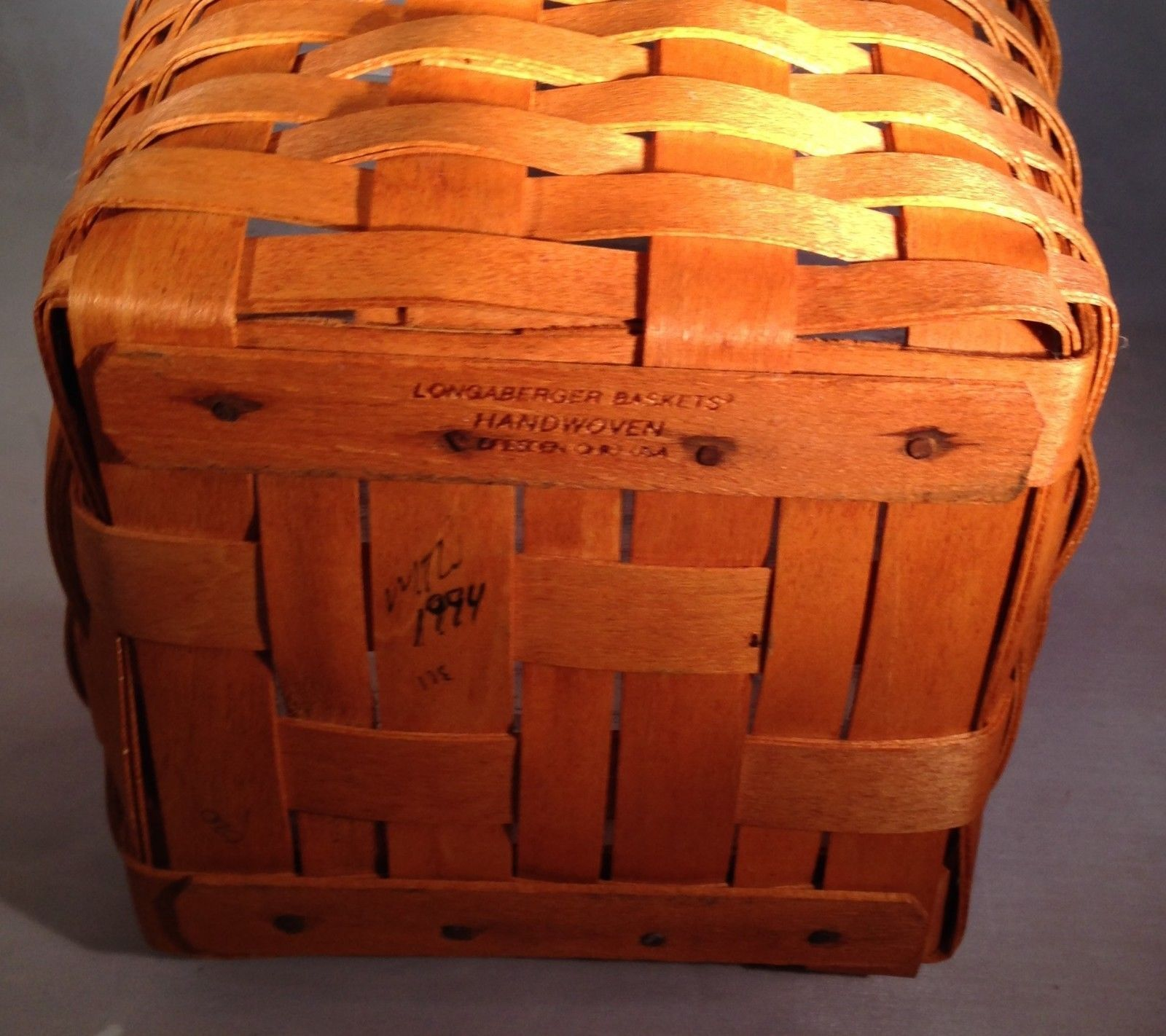 Longaberger Father's Day Tall Tissue Basket w/Protector