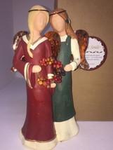 Mindspring Studio Gentle Souls Forever Friends Two Angels Holding Wreath... - $18.70