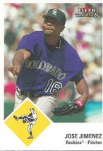 2003 Fleer Tradition Update Jose Jimenez 137 Rockies - $1.00