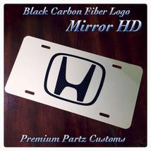 Honda Custom License Plate Carbon Fiber Logo New Fits Accord Pilot Civic... - $39.99