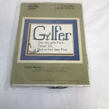 Something Special #50447 Golfer Saying Counted Cross Stitch Kit 14x11 Candamar  - $19.80