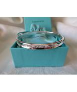 Tiffany & Co. 1997 Sterling Silver 1837 Oval Bangle Bracelet~Medium~Box ... - $255.00