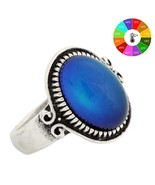 Mojo Punk Ring Vintage Color Change Mood Ring Emotion Feeling Changeable... - $13.94