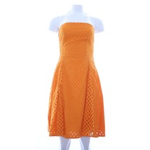 Maeve Orange Crochet Strapless Midi Dress 2 - $64.29