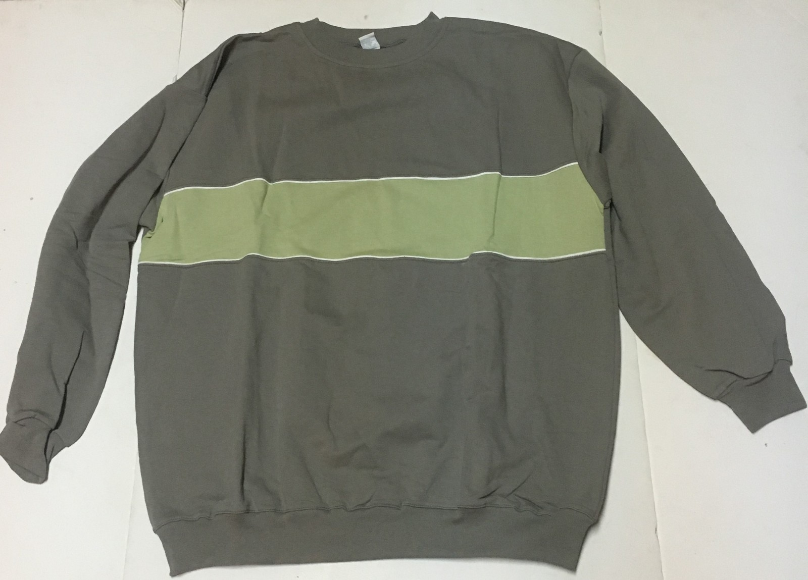 Comfy Cotton Baggy Sweatshirt XL Gray & Green