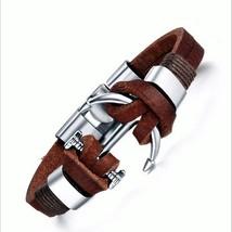Fashion Anchor Stingray Leather Bracelet Unisex - $25.00+