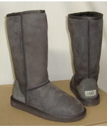 UGG Australia CLASSIC TALL Brown Suede Sheepskin Boots US 5,EU 36 NEW #5815 - $128.69