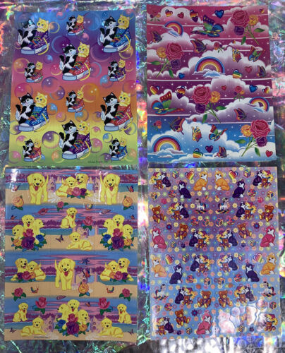 *Pick1Sheet* VINTAGE Lisa Frank Full Complete Sticker Sheets Still Glossy Crisp