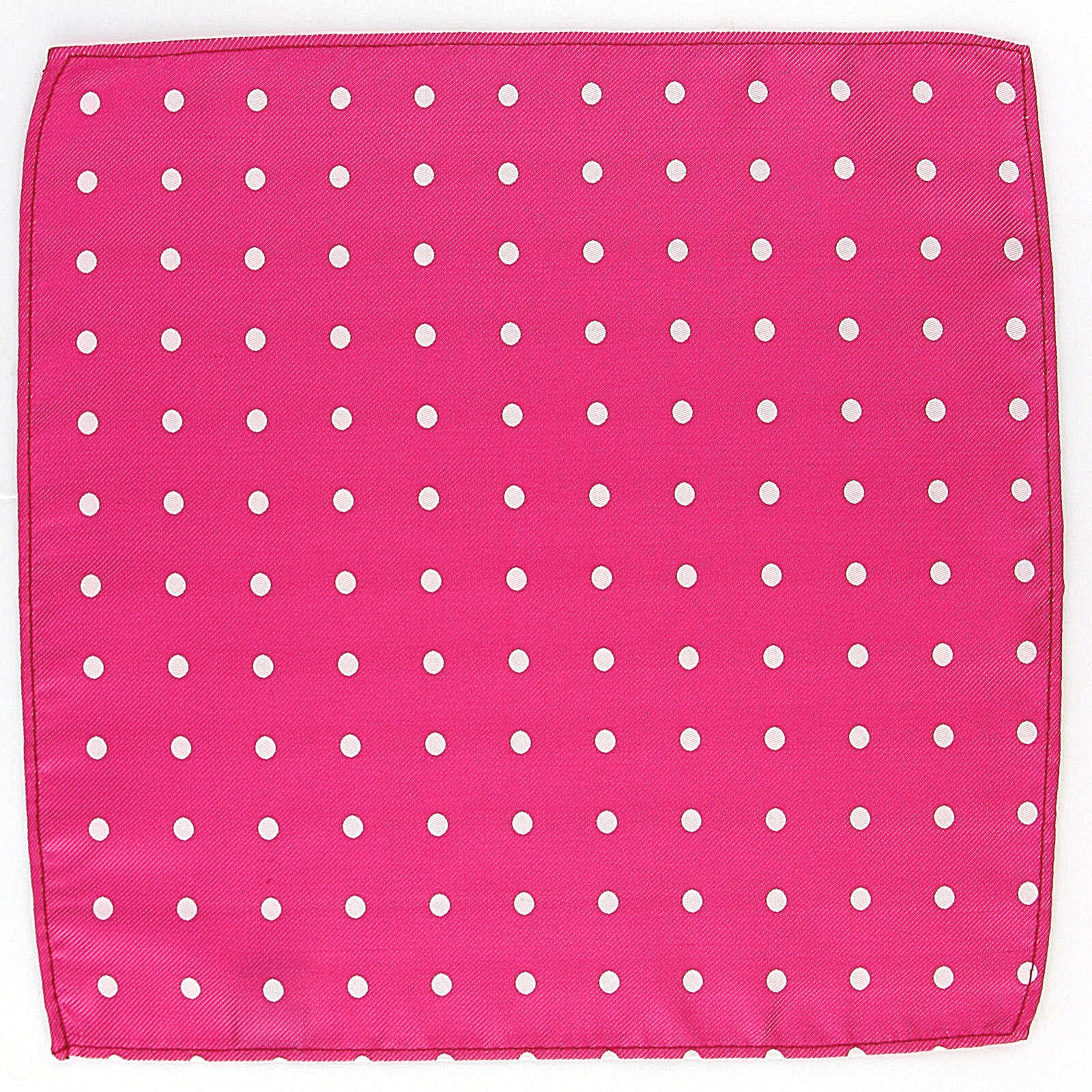 "Men's Pocket Square Polka Dot 10"" Dress Fashion Handkerchief Hot Pink Hanky"