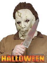 Deluxe Full Over Head Michael Myers Halloween Costume Mask and Knife Set - £35.28 GBP