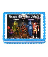 Five nights at Freddy's FNaF party edible cake image cake topper frostin... - $7.80