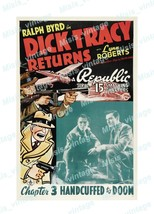 Dick Tracy Returns 1938 Vintage Movie Poster Reprint 2 - $5.95+