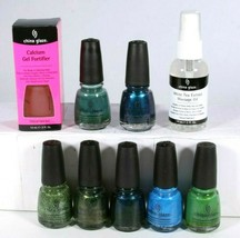 China Glaze Nail Polish 9 Mixed Color & Treatment Full Size Collection S... - €21,52 EUR