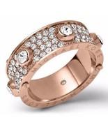 Michael Kors MKJ3275 Rose Gold Tone Astor Stud Crystal Pave Ring Size 8 ... - $84.75