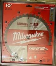 "Milwaukee 48-40-4174 10"" 40 Tooth General Purpose Wood Saw Blade - $17.82"