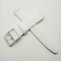 HOT! white blanco blanc silicone rubber Strap fits Swatch 19mm steel cla... - $12.99