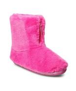 Women's Bright PINK Faux Fur Zip Bootie Slippers -  L 9/10 - $30.00