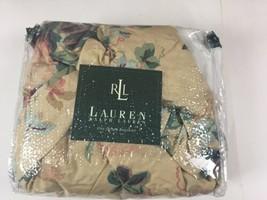 Vtg Ralph Lauren Grassland Floral Cream Bedskirt Queen Ruffle RLL NWOT - $83.13