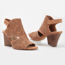 Vince Camuto Women Slingback Sandals Dachelle Size US 5.5M Brick Suede - $59.94