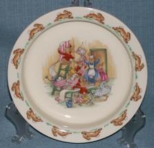 Royal Doulton Bunnykins- Baby Plate /Child's Bowl -Home Decorating Wallpaper EUC image 1
