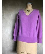 MARKS & SPENCER AUTOGRAPH 100% CASHMERE Pink V-NECK Sweater JUMPER UK 14... - $48.26